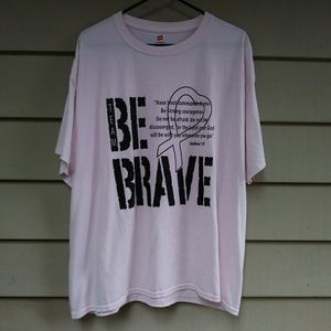 🌐$10 Breast Cancer Team Be Brave Pink T Shirt XL